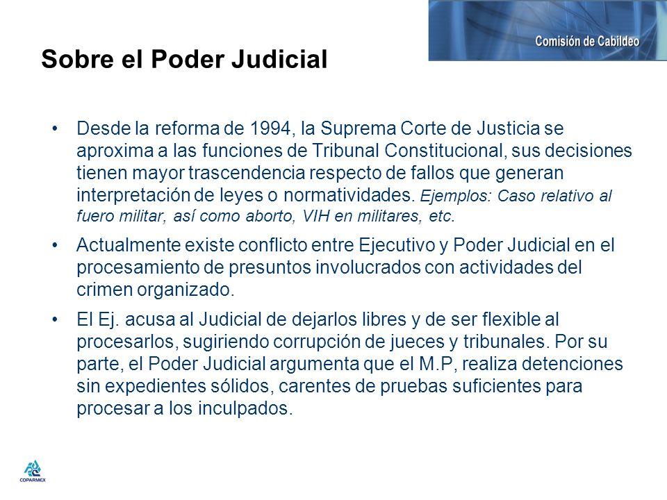 Sobre el Poder Judicial