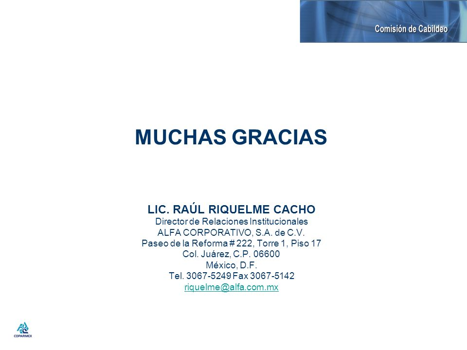 LIC. RAÚL RIQUELME CACHO