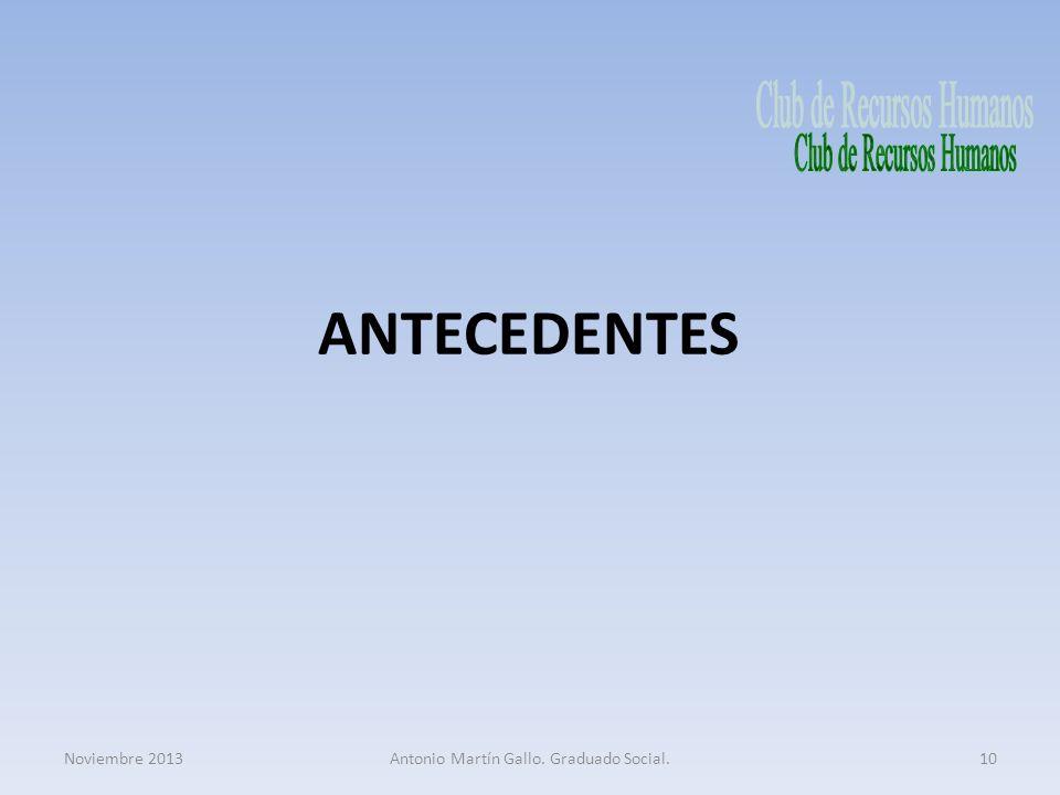 ANTECEDENTES Club de Recursos Humanos Noviembre 2013