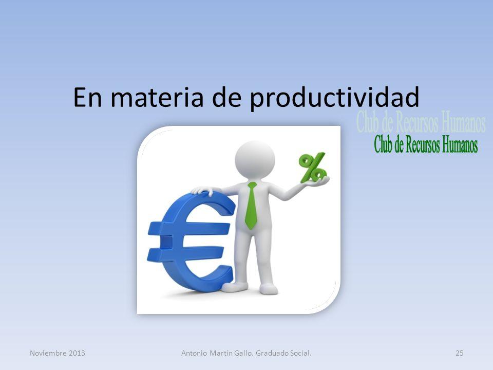 En materia de productividad