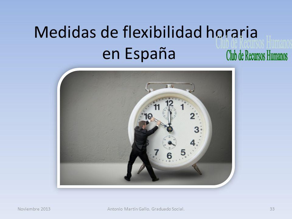 Medidas de flexibilidad horaria en España