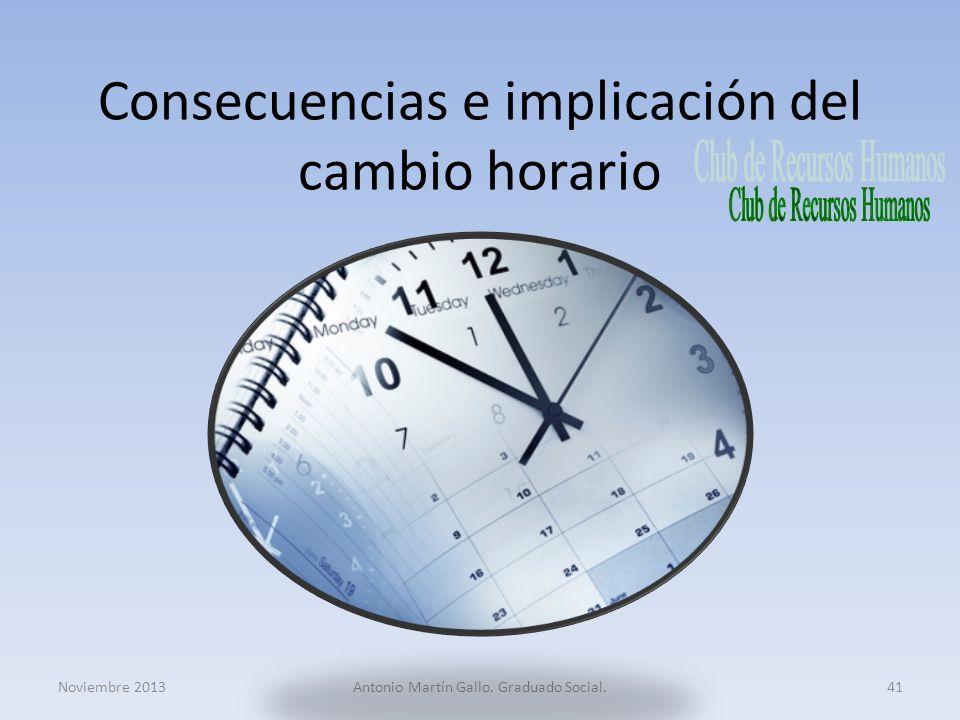 Consecuencias e implicación del cambio horario