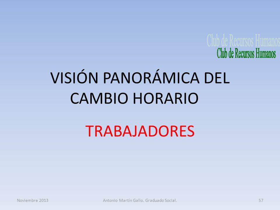 VISIÓN PANORÁMICA DEL CAMBIO HORARIO