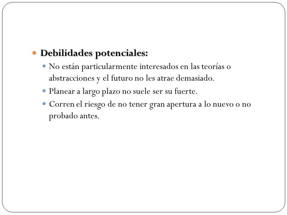 Debilidades potenciales: