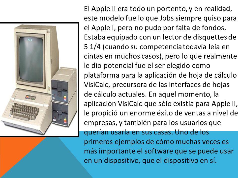 El Apple II era todo un portento, y en realidad, este modelo fue lo que Jobs siempre quiso para el Apple I, pero no pudo por falta de fondos.