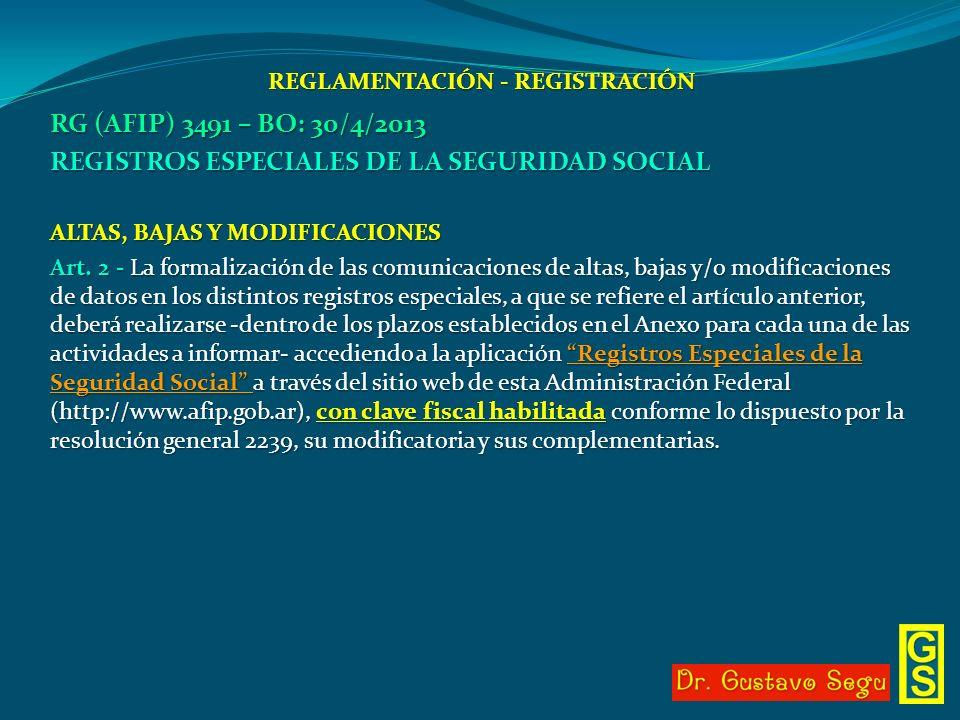 REGLAMENTACIÓN - REGISTRACIÓN