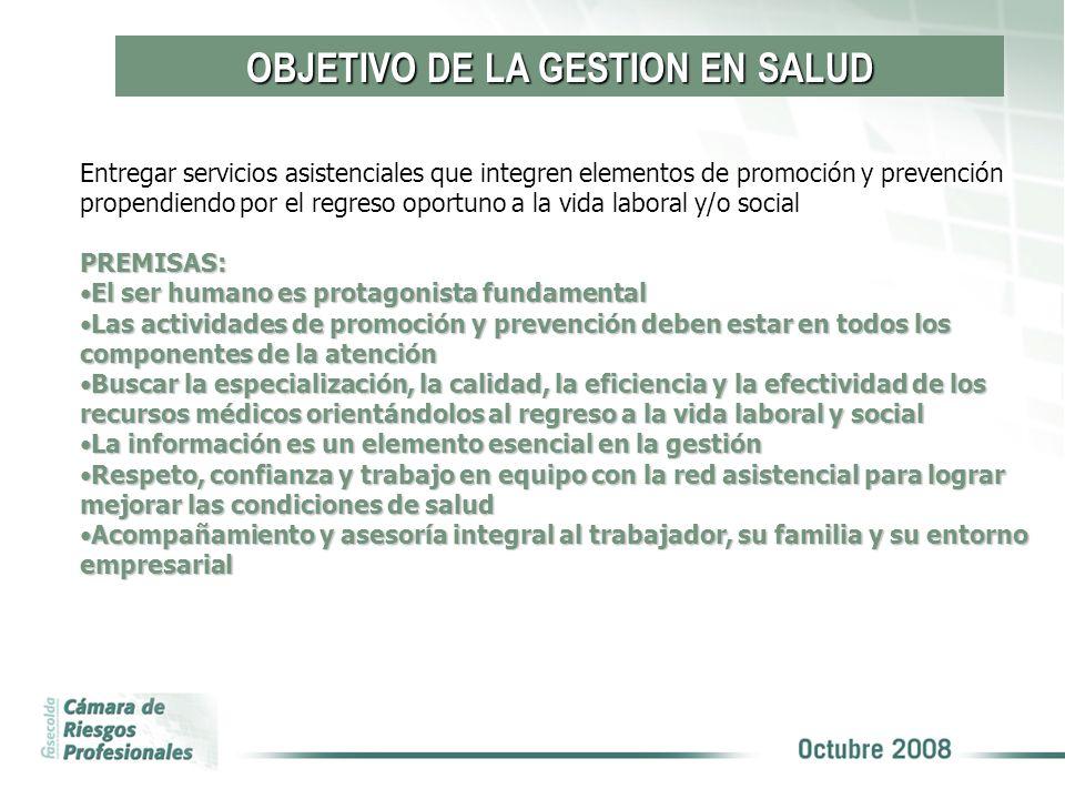OBJETIVO DE LA GESTION EN SALUD