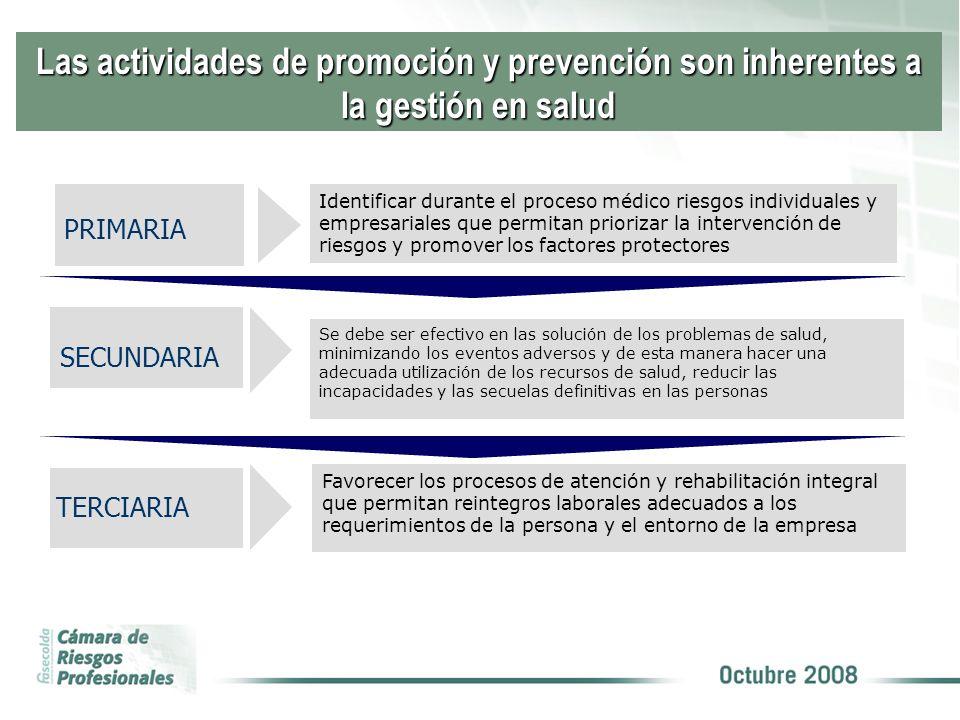 Las actividades de promoción y prevención son inherentes a la gestión en salud