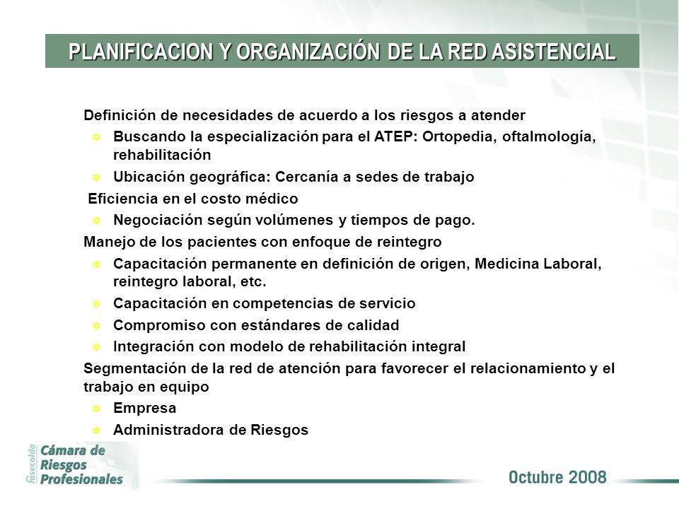 PLANIFICACION Y ORGANIZACIÓN DE LA RED ASISTENCIAL