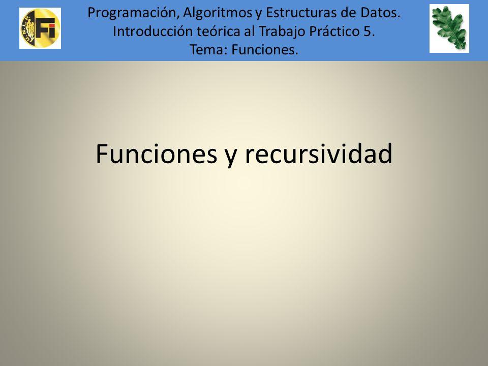 Funciones y recursividad