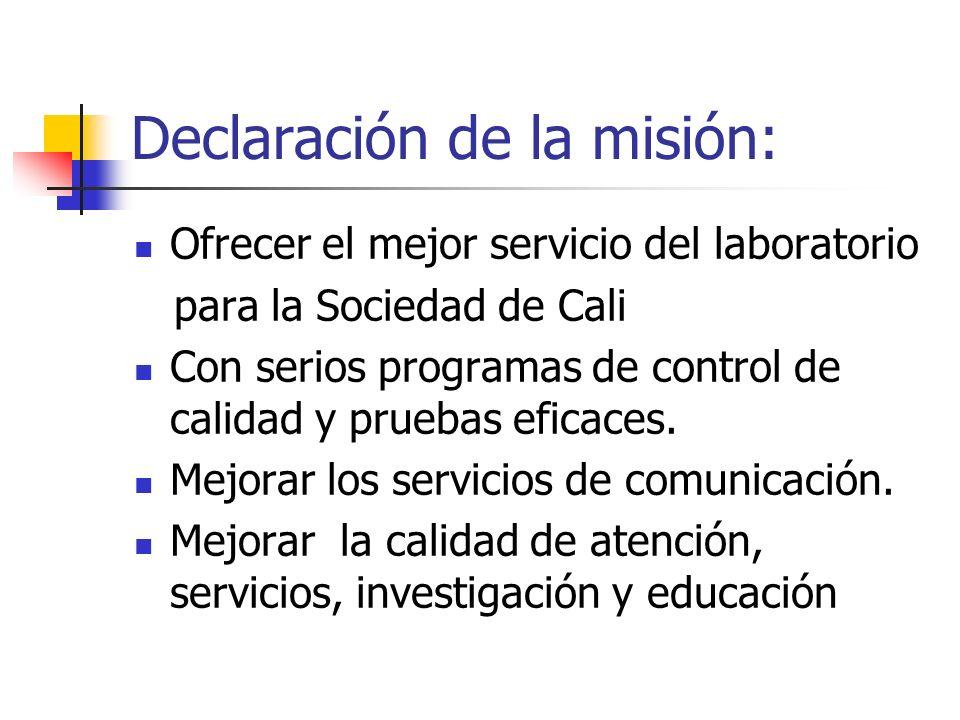 Declaración de la misión: