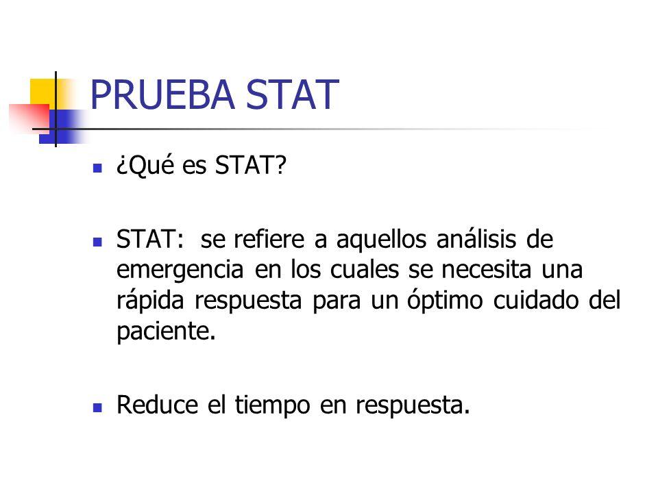 PRUEBA STAT ¿Qué es STAT