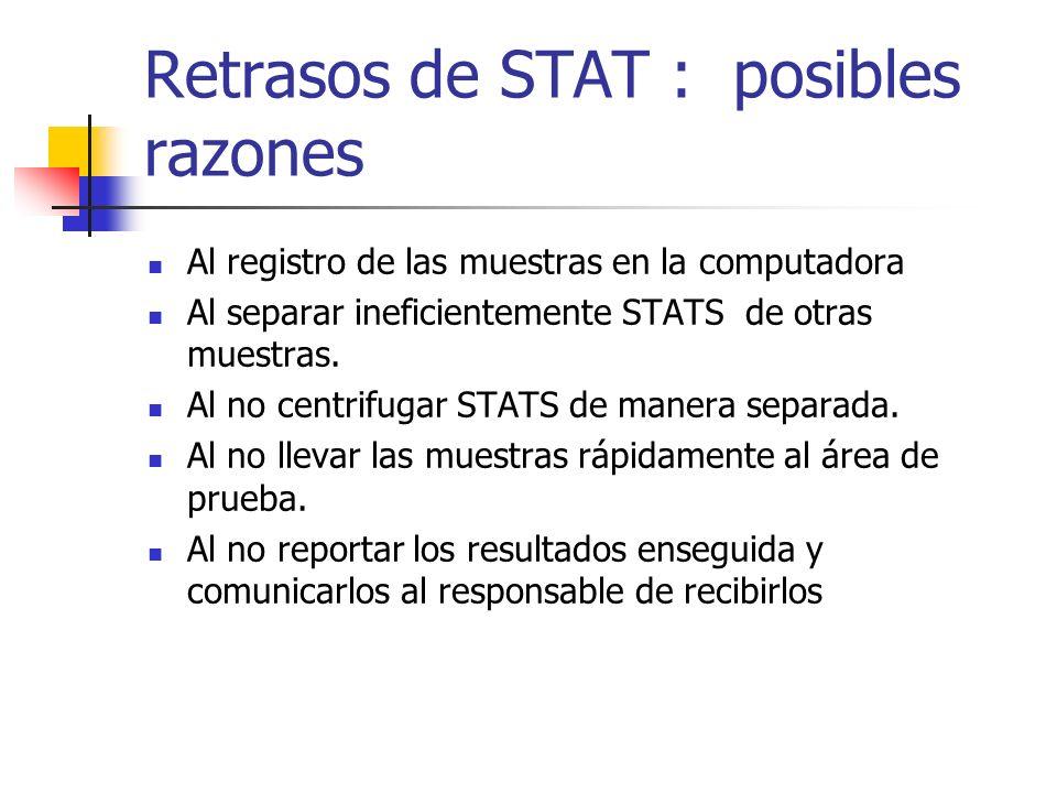 Retrasos de STAT : posibles razones