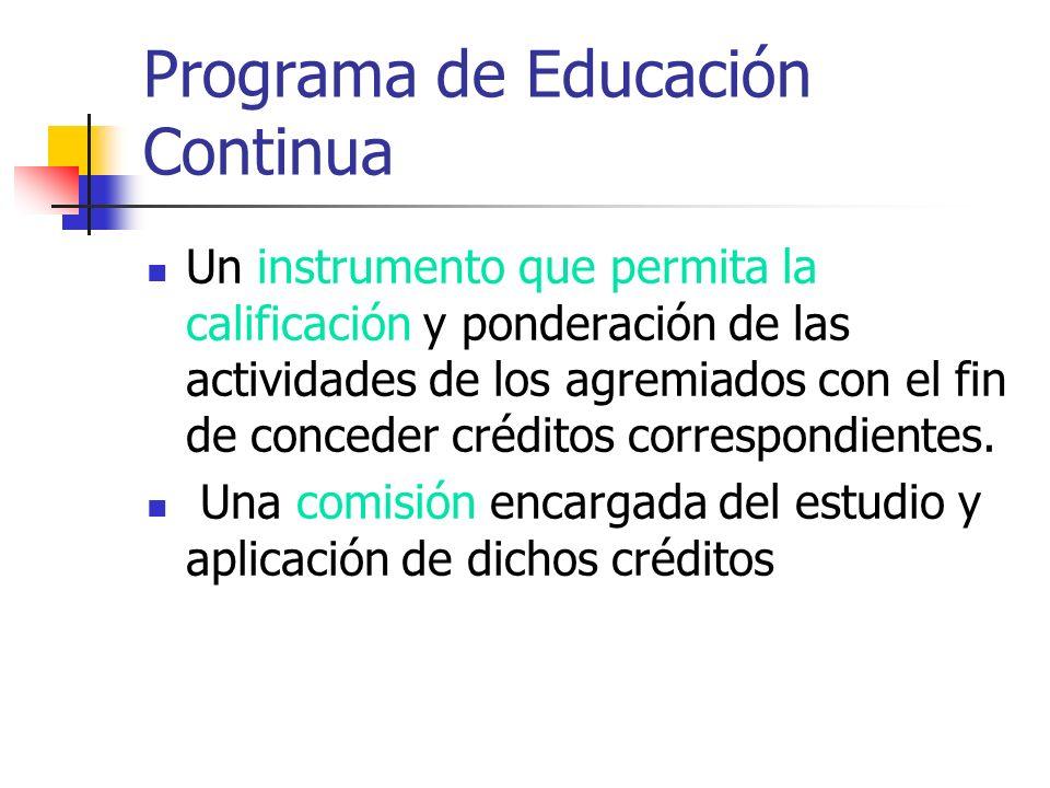 Programa de Educación Continua