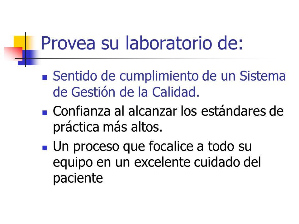 Provea su laboratorio de: