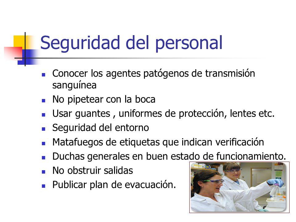 Seguridad del personal