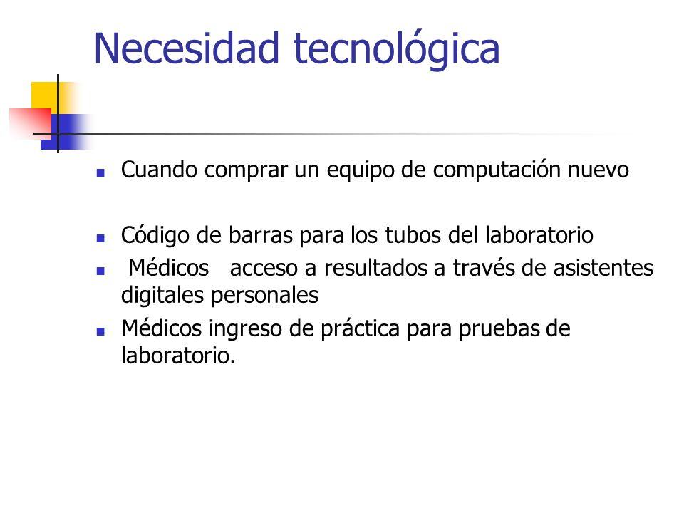 Necesidad tecnológica