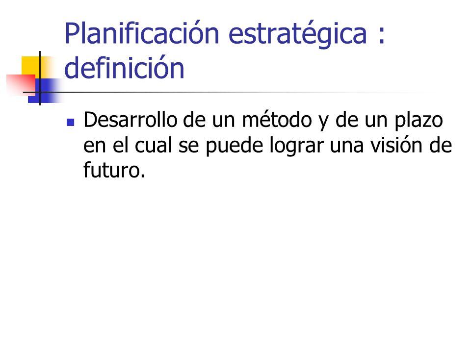 Planificación estratégica : definición