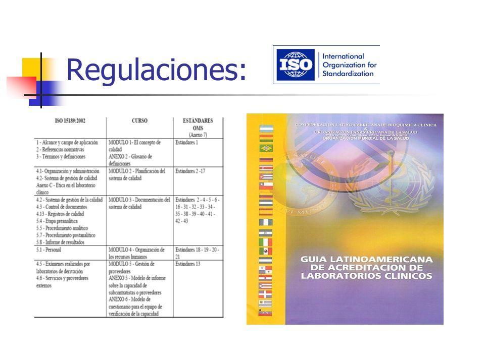 Regulaciones: