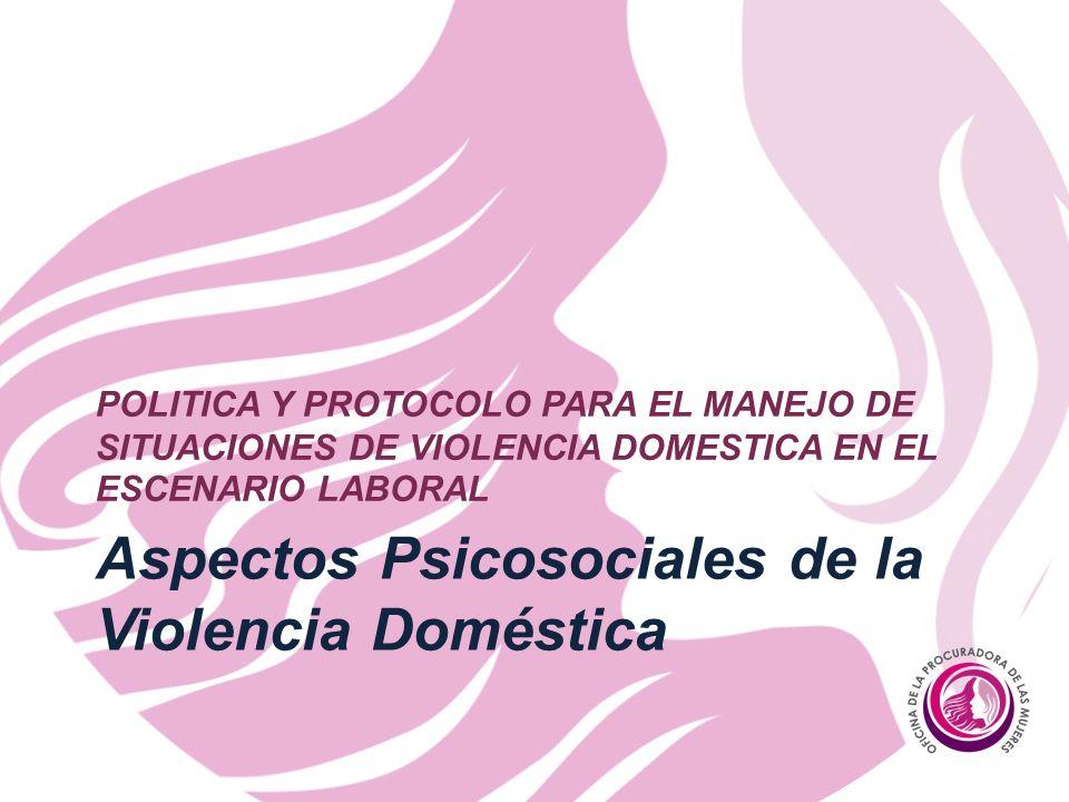 Aspectos Psicosociales de la Violencia Doméstica
