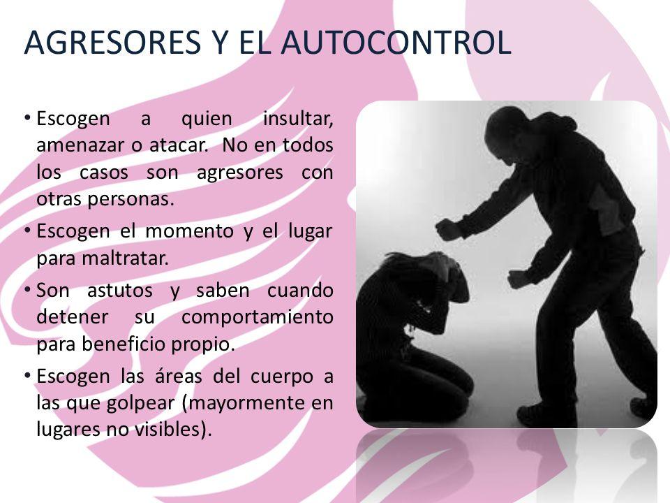 AGRESORES Y EL AUTOCONTROL