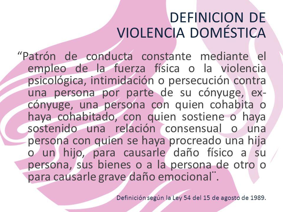 DEFINICION DE VIOLENCIA DOMÉSTICA