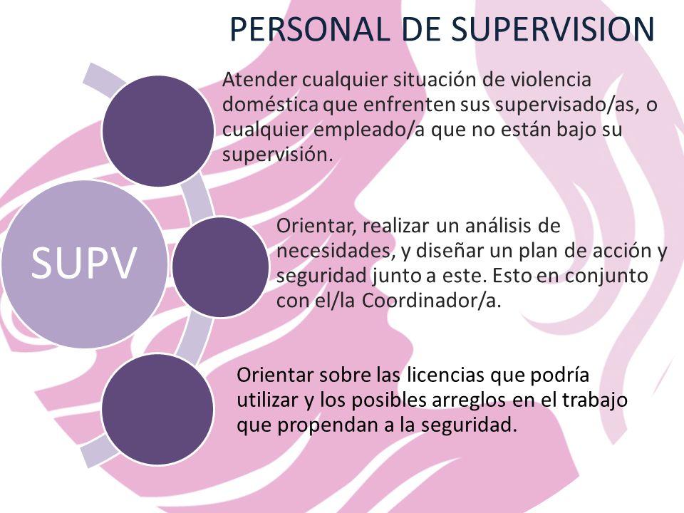 PERSONAL DE SUPERVISION