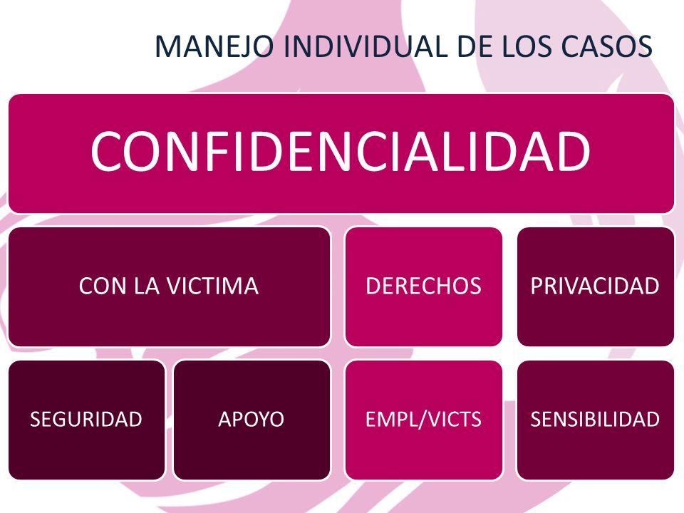MANEJO INDIVIDUAL DE LOS CASOS