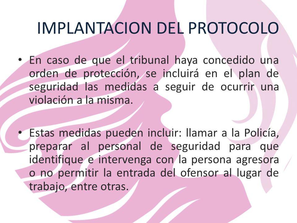 IMPLANTACION DEL PROTOCOLO