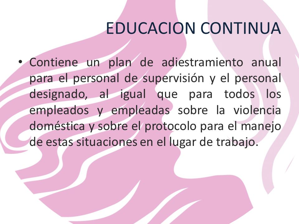 EDUCACION CONTINUA