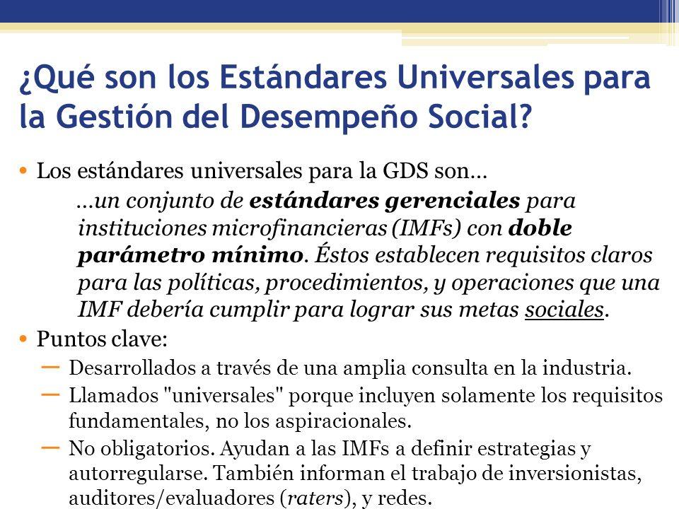 ¿Qué son los Estándares Universales para la Gestión del Desempeño Social