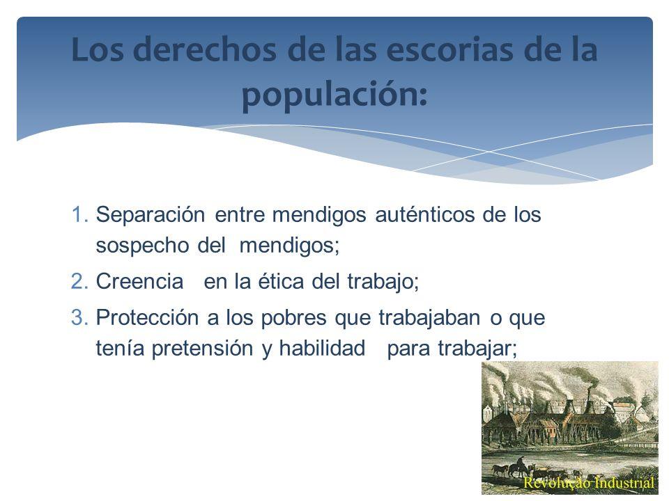 Los derechos de las escorias de la populación: