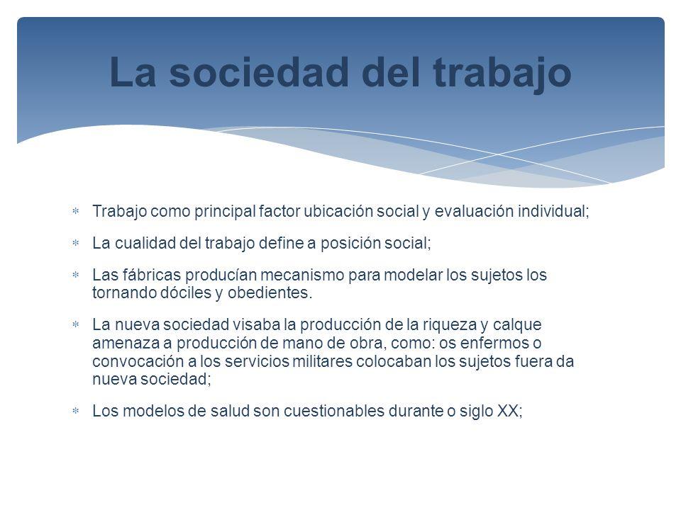 La sociedad del trabajo