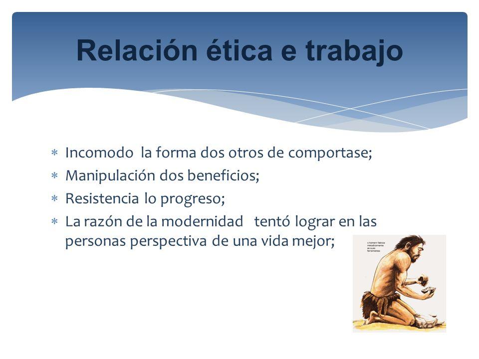 Relación ética e trabajo