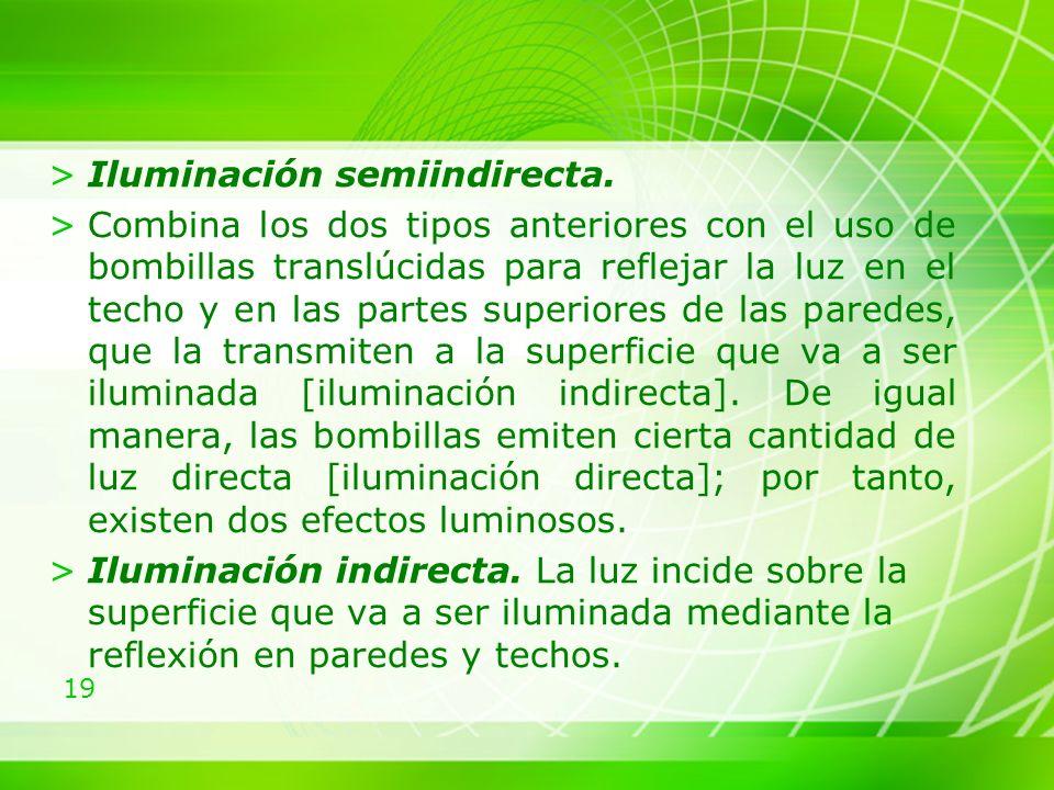 Iluminación semiindirecta.