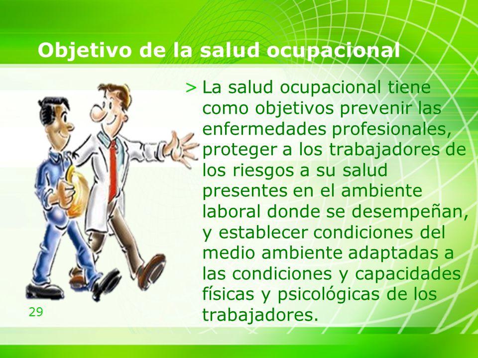 Objetivo de la salud ocupacional