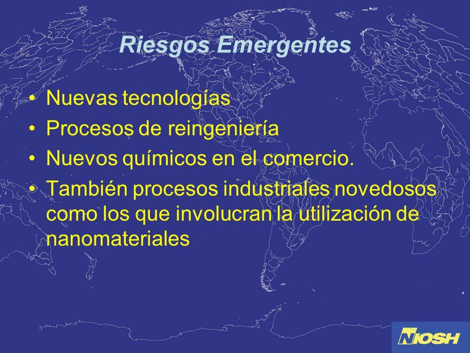 Riesgos Emergentes Nuevas tecnologías Procesos de reingeniería