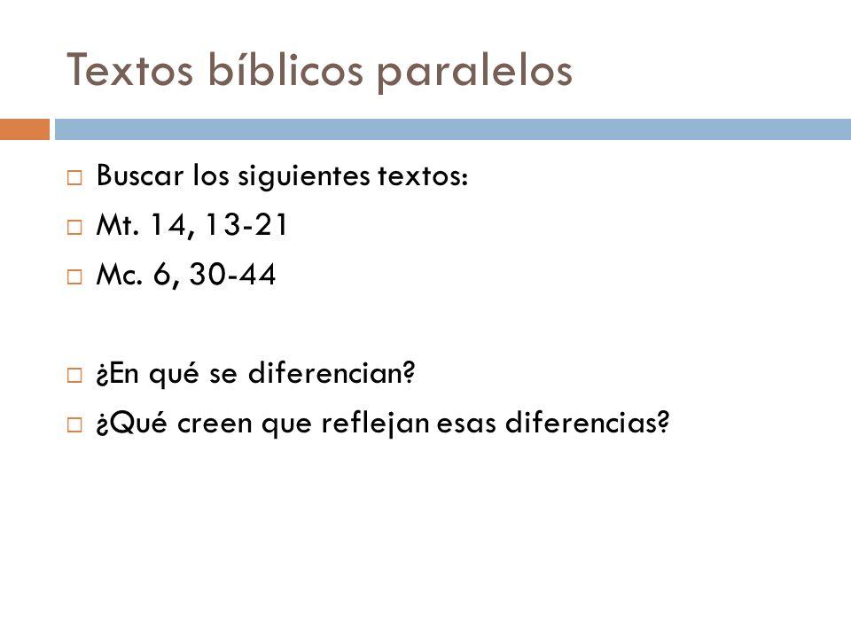 Textos bíblicos paralelos