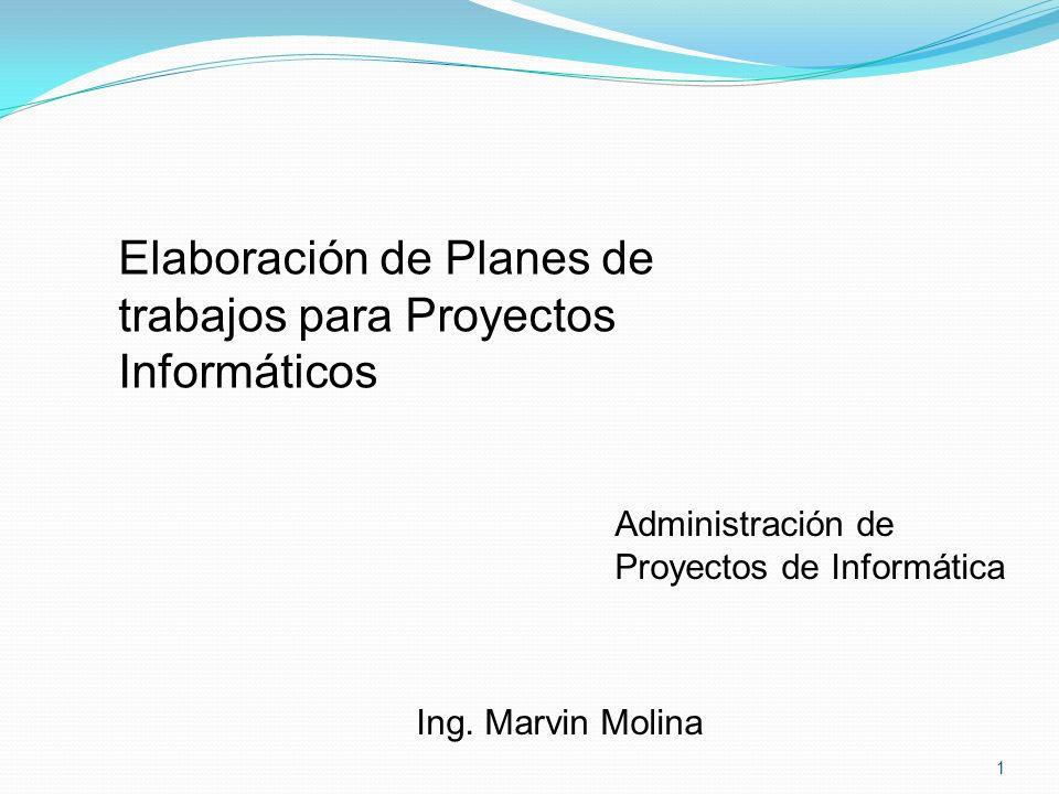 Elaboración de Planes de trabajos para Proyectos Informáticos
