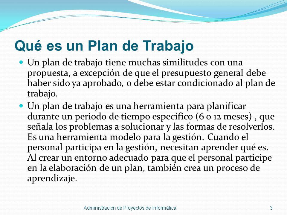 Qué es un Plan de Trabajo