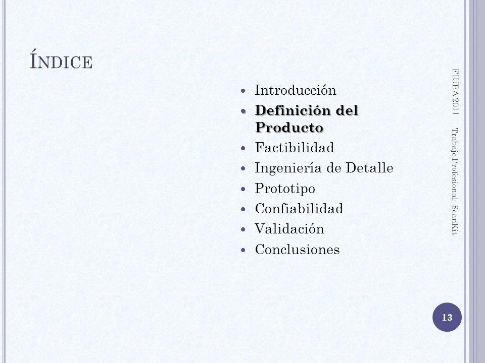 Índice Introducción Definición del Producto Factibilidad
