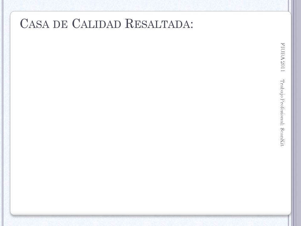 Casa de Calidad Resaltada: