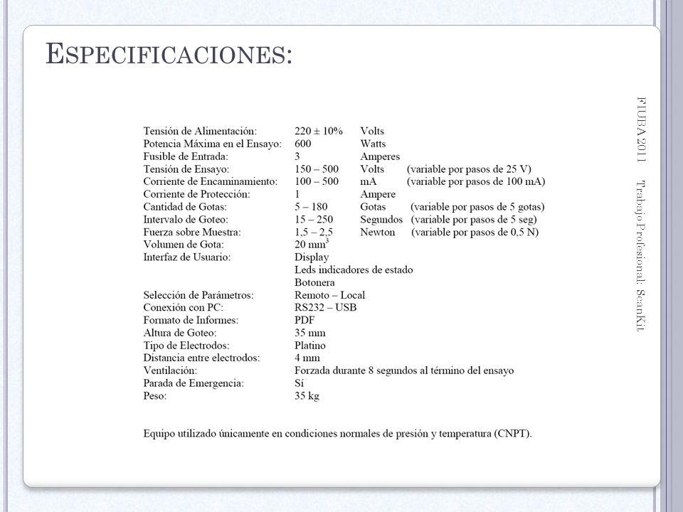 Especificaciones: FIUBA 2011 Trabajo Profesional: ScanKit