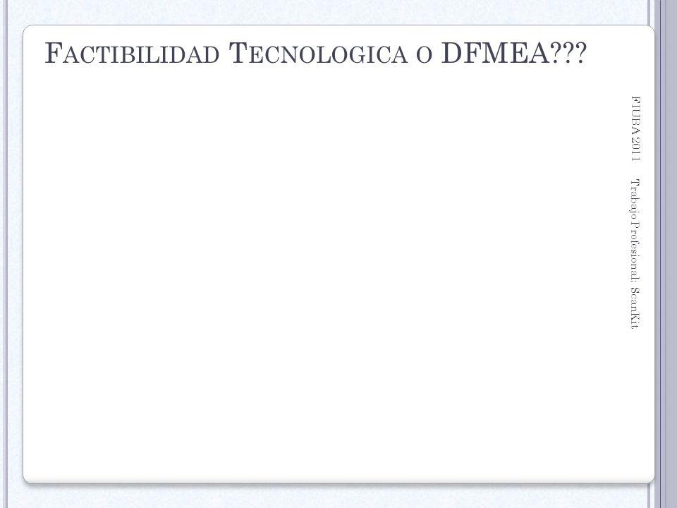 Factibilidad Tecnologica o DFMEA