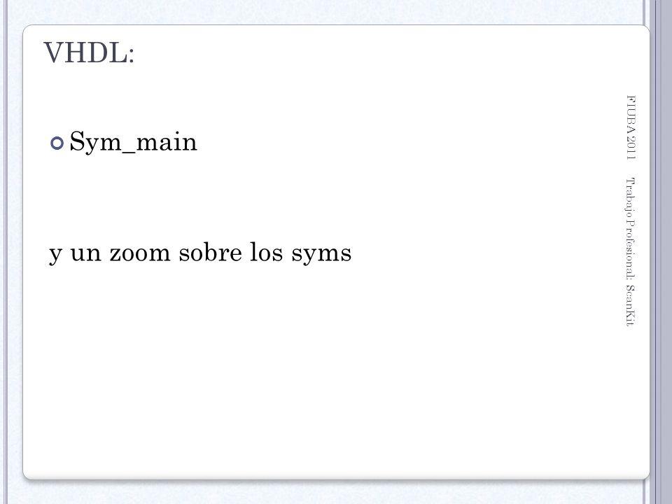 VHDL: Sym_main y un zoom sobre los syms FIUBA 2011