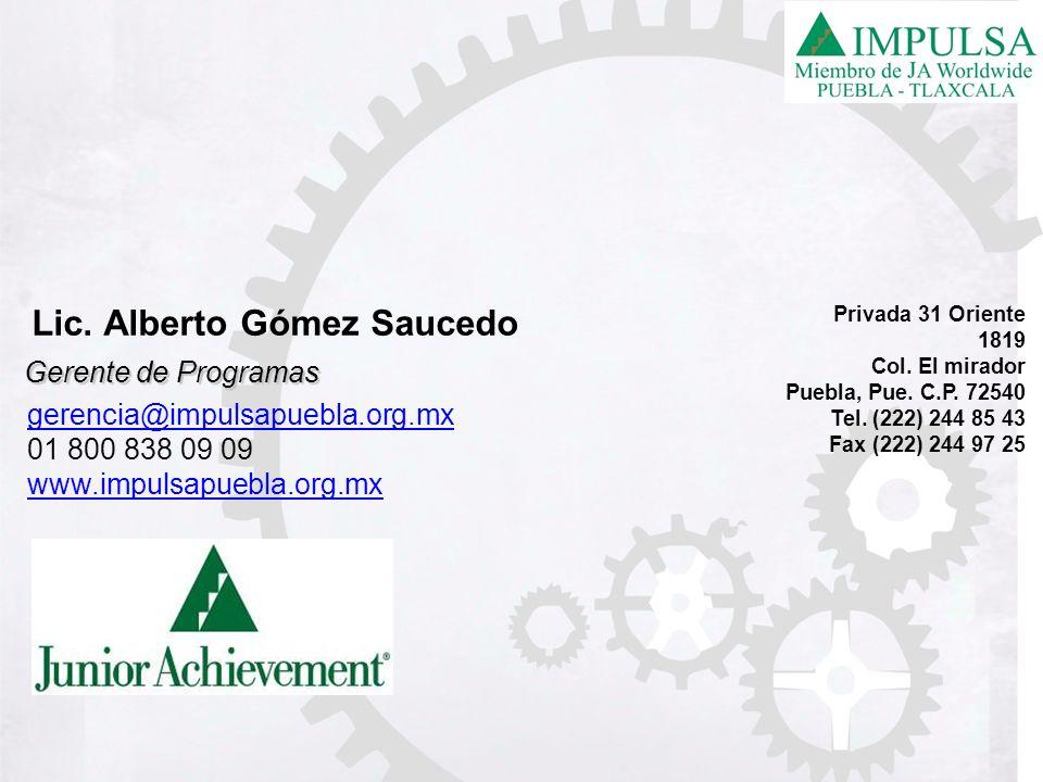 Lic. Alberto Gómez Saucedo