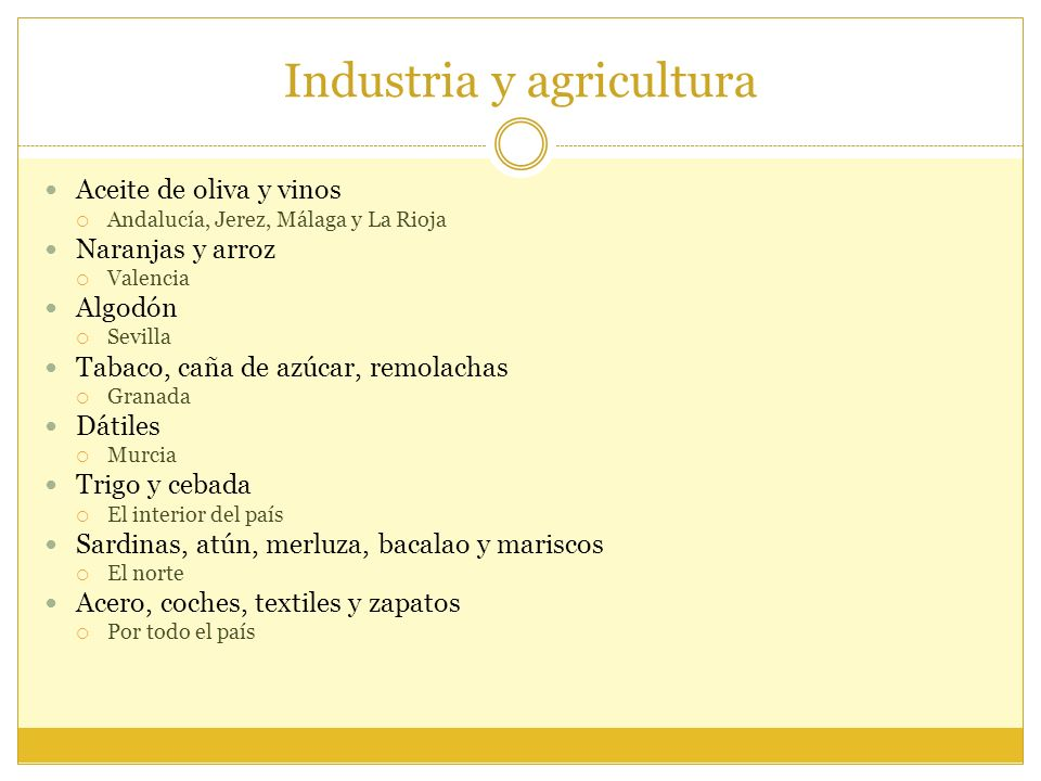 Industria y agricultura