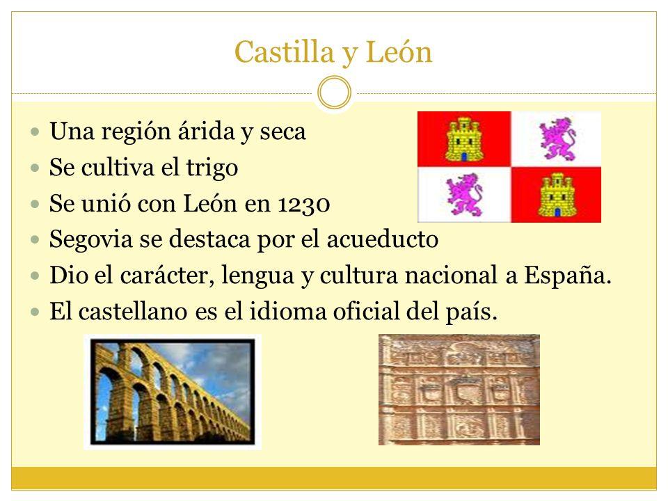 Castilla y León Una región árida y seca Se cultiva el trigo