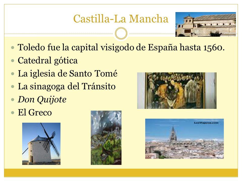 Castilla-La Mancha Toledo fue la capital visigodo de España hasta 1560. Catedral gótica. La iglesia de Santo Tomé.