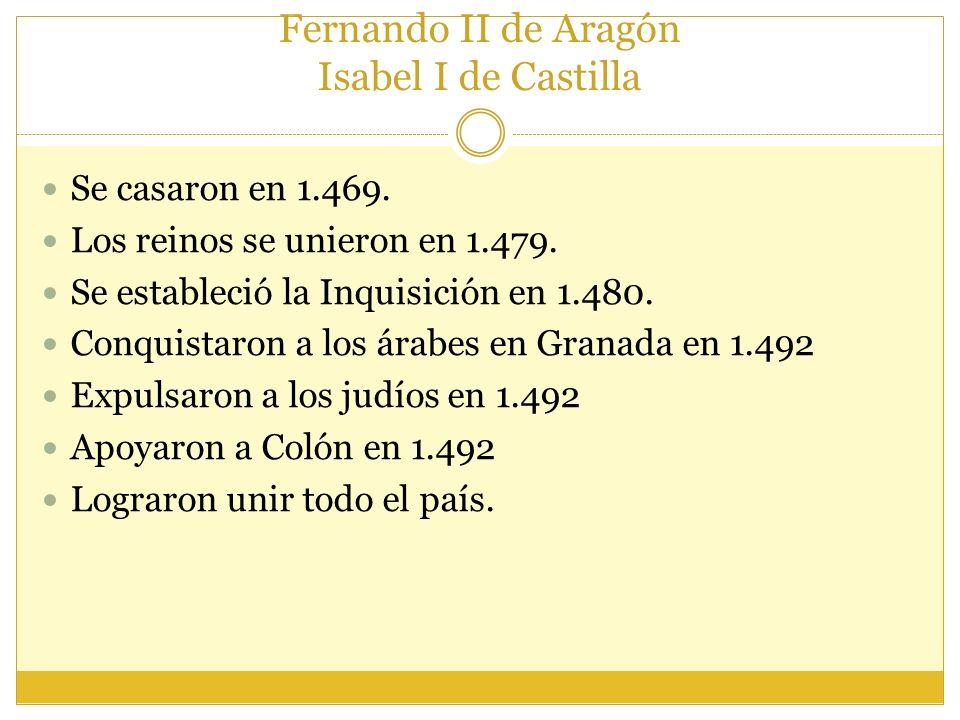Fernando II de Aragón Isabel I de Castilla